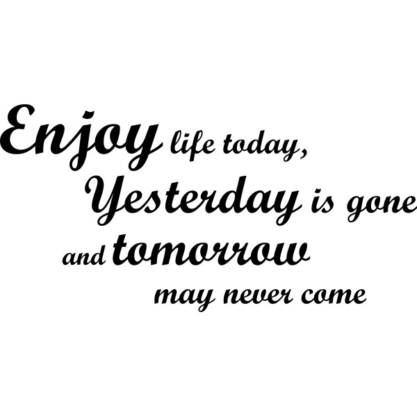 quotes about enjoy today quotes