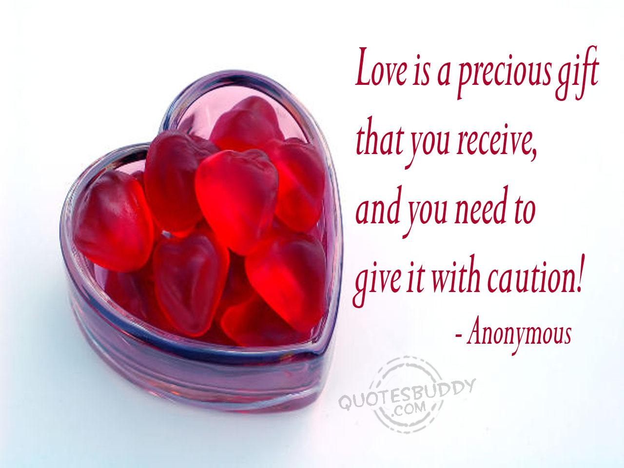 Quotes about Gift Of Love (7 quotes)