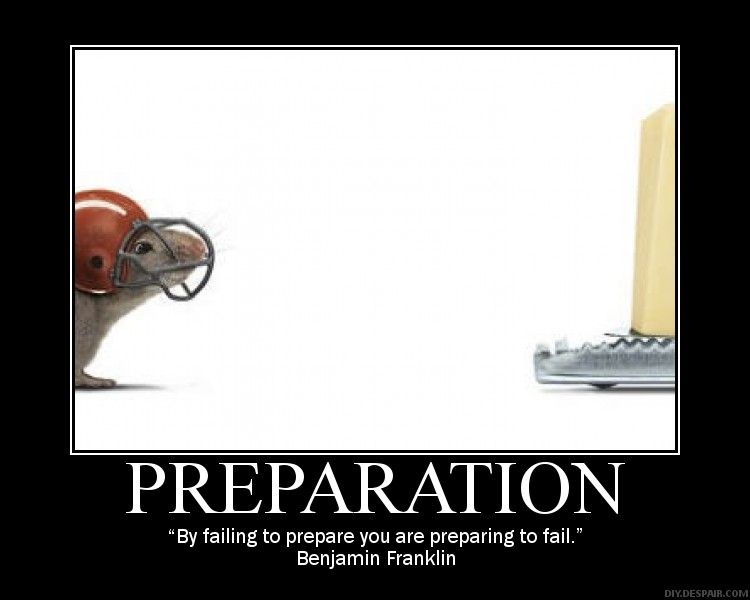 Quotes About Being Prepared 83 Quotes