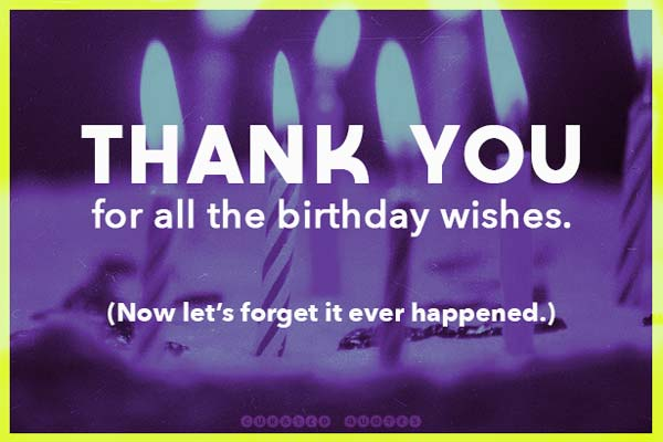 Birthday thanks funny for wishes facebook 50+ Funny