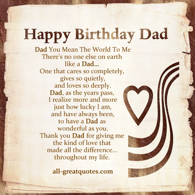 Nicewishes Birthday Wishes Dad Quotes