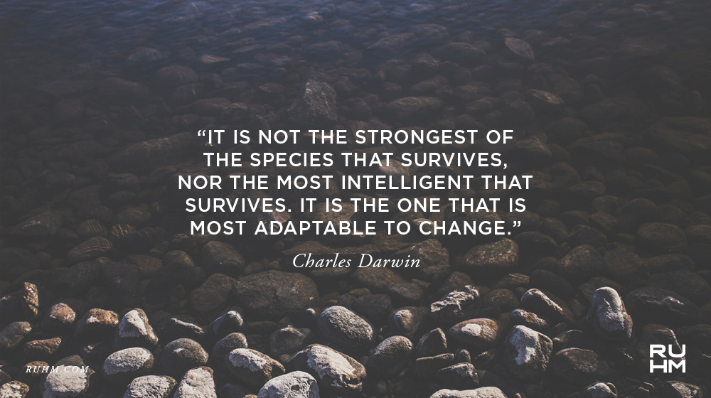 nor the most intelligent that survives it is the one that is most adaptable to change charles darwin