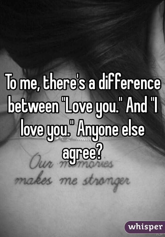 The difference between in love and love