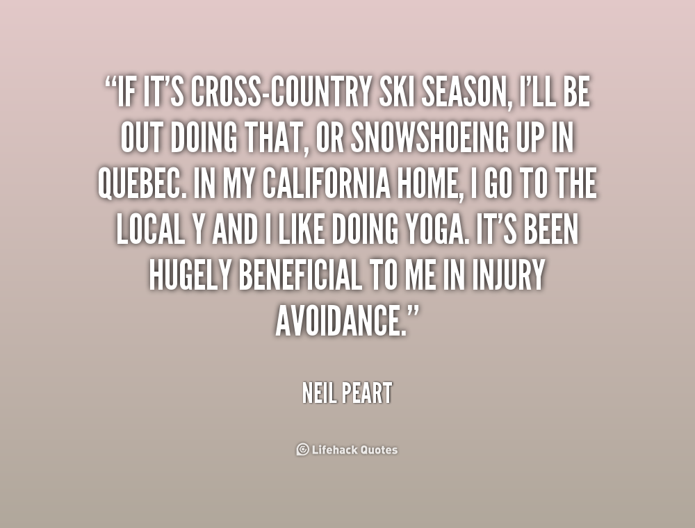 Quotes about Cross Country (47 quotes)