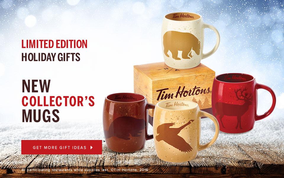 Tim hortons limited edition coffee mug tea cup #016 2016 caribou.