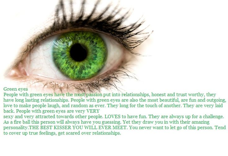 how to tell if you have true green eyes