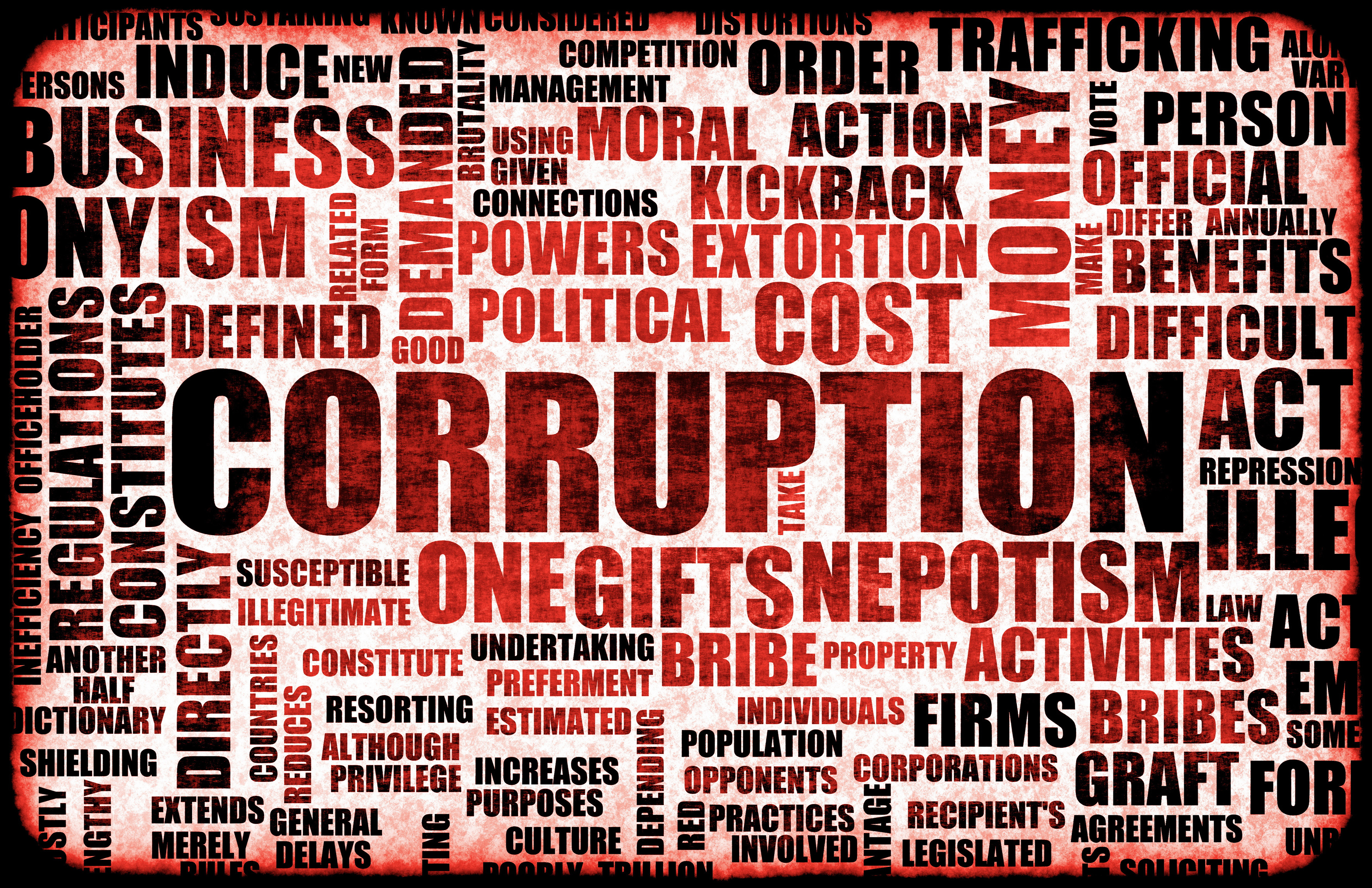corruption and bribery practice sof public