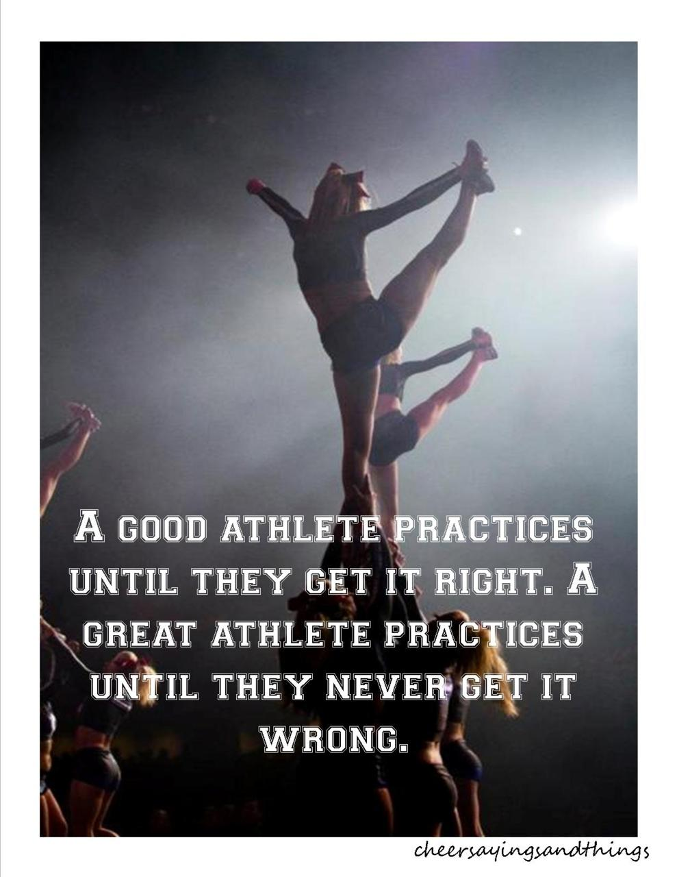 Quotes about Cheerleading practice (26 quotes)