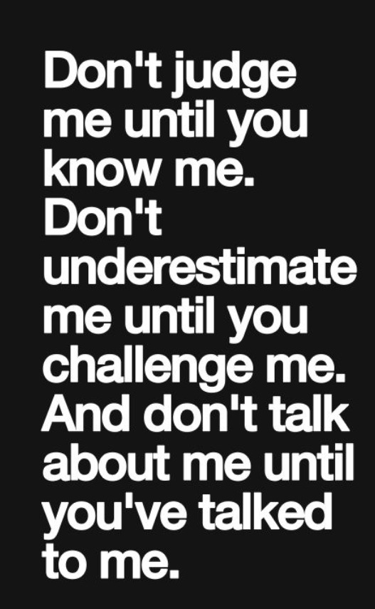 Quotes about Dont Judge Me (22 quotes)