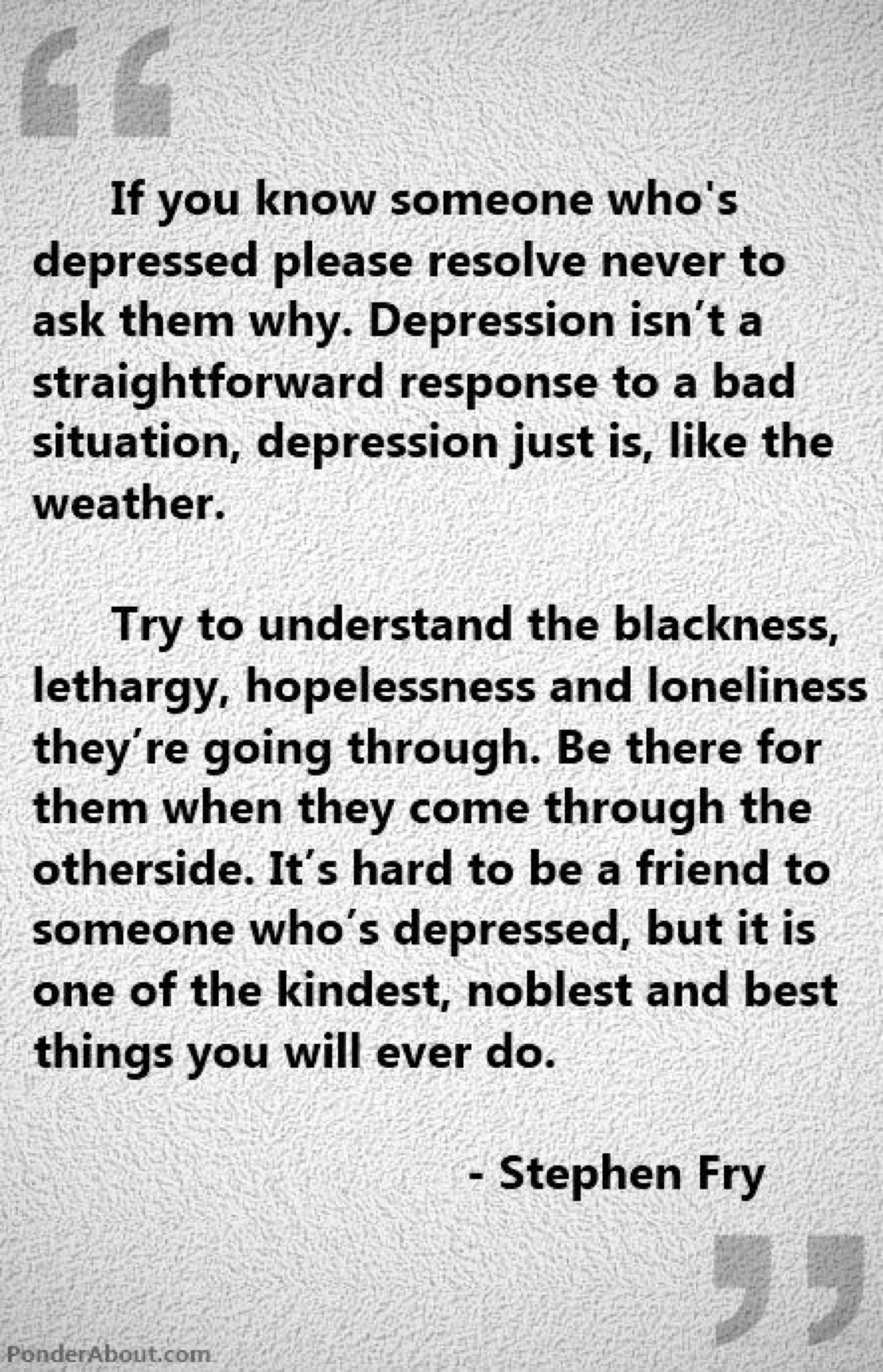 quotes about not understanding depression quotes