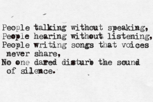 Quotes About Song Of Silence 39 Quotes