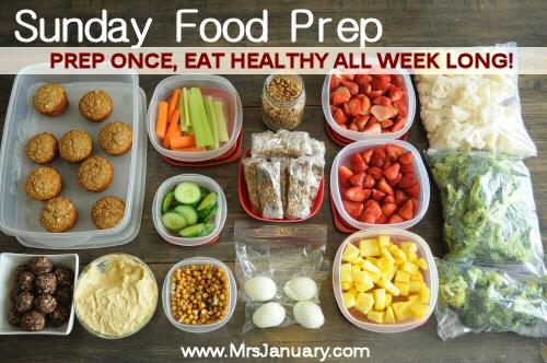 Sunda Food Pre Prep Once Eat Healthy All Week Long Wvw Mrsjanuary