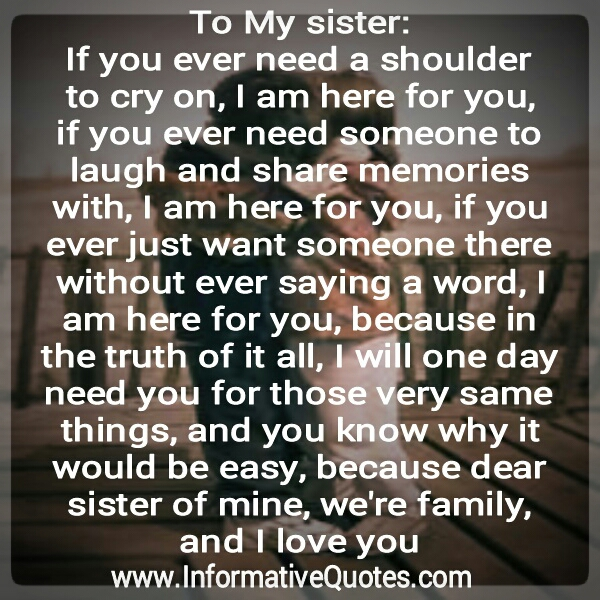 Quotes about Loving Your Sister (20 quotes)