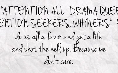 Quotes About Attention Seeker 35 Quotes