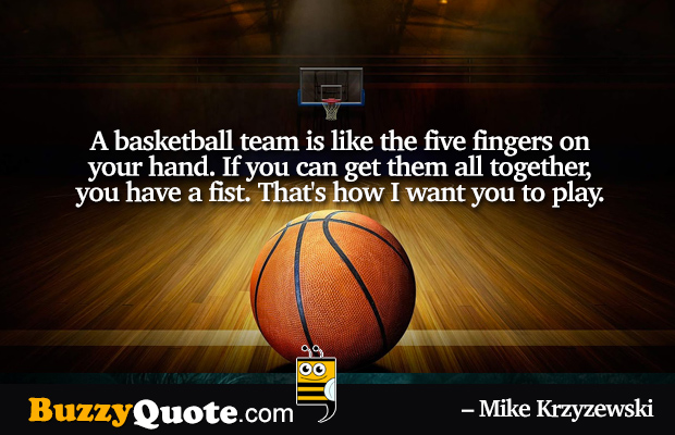 Quotes about Basketball Team (86 quotes)