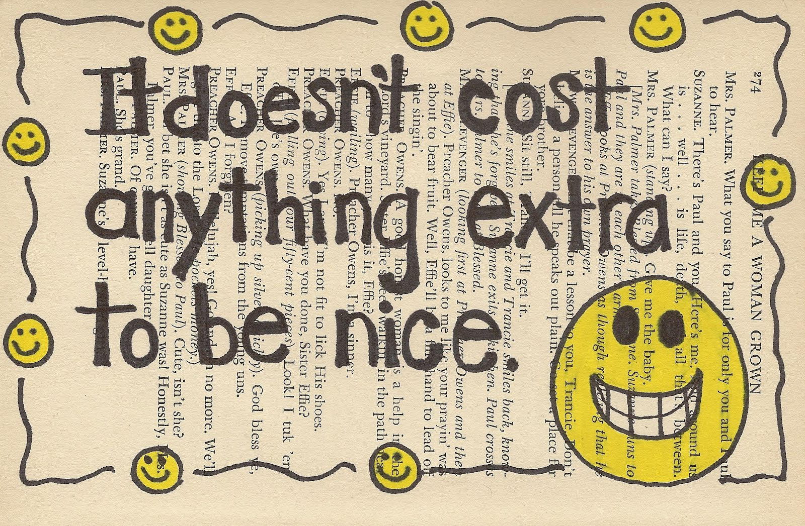 the cost of being nice