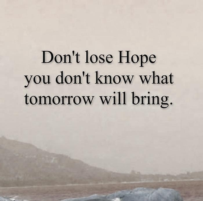quotes about do not lose hope