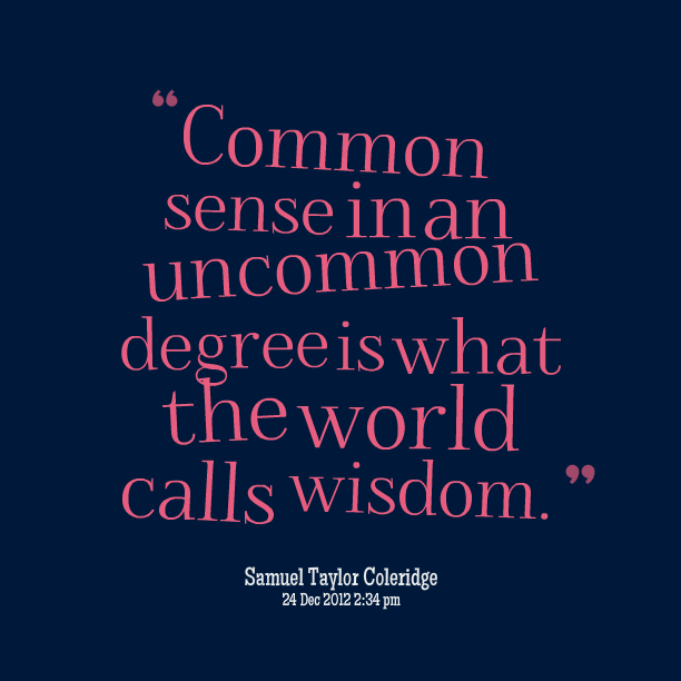 Quotes about Common sense and wisdom (36 quotes)