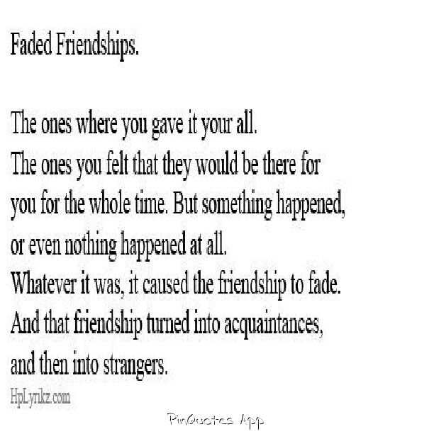 quotes about drifting away from friends quotes