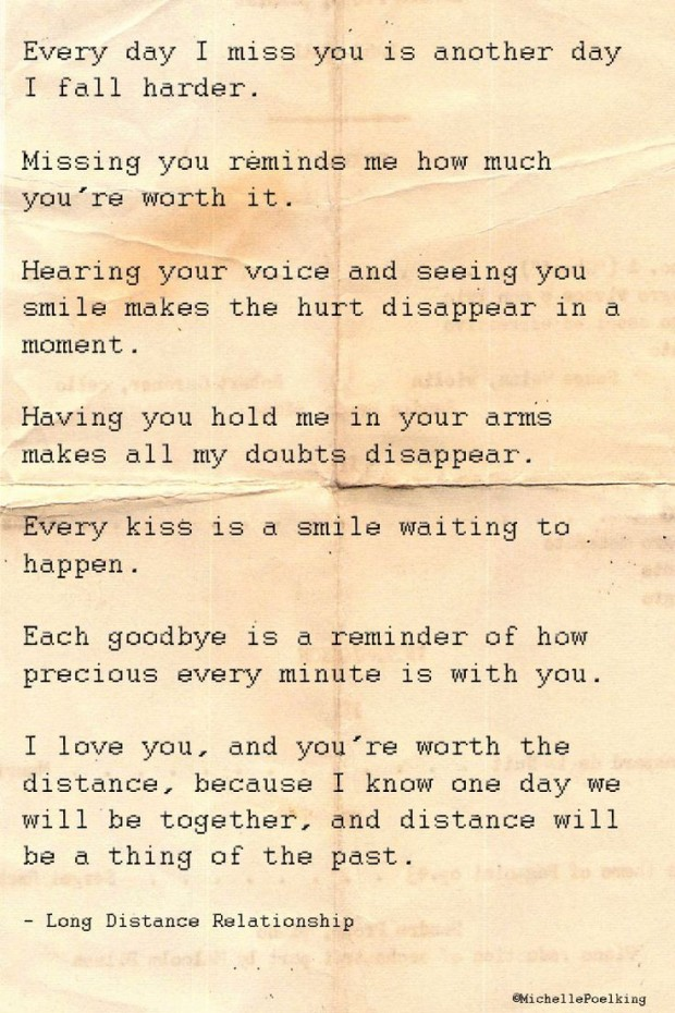 Someone loving long distance quotes about Long Distance