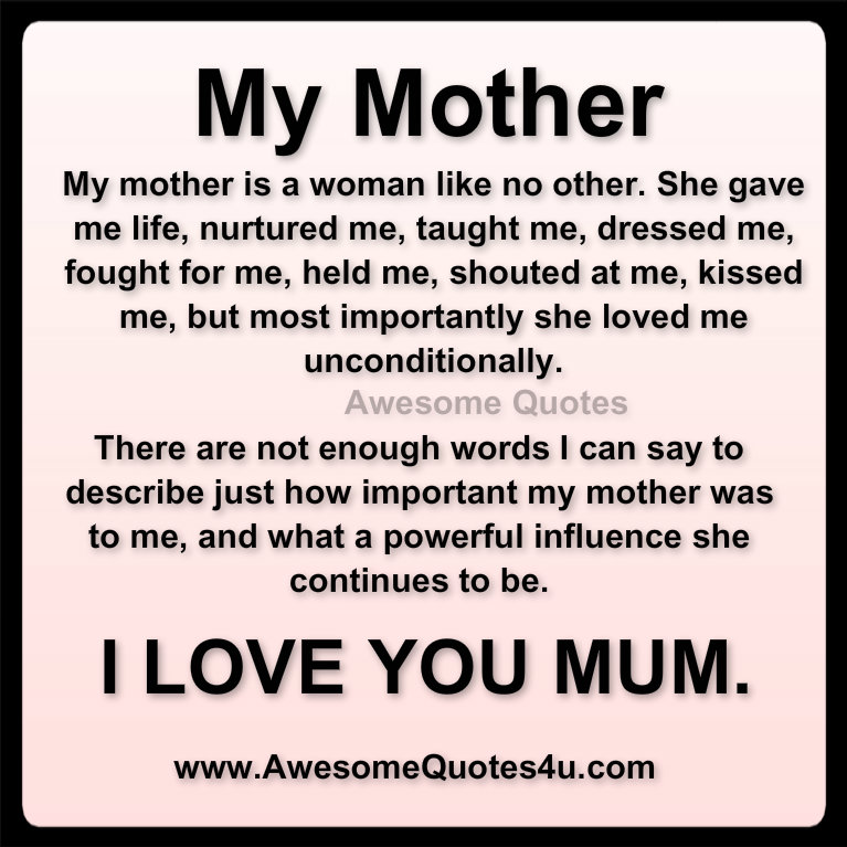 Quotes About Love Your Mother 58 Quotes