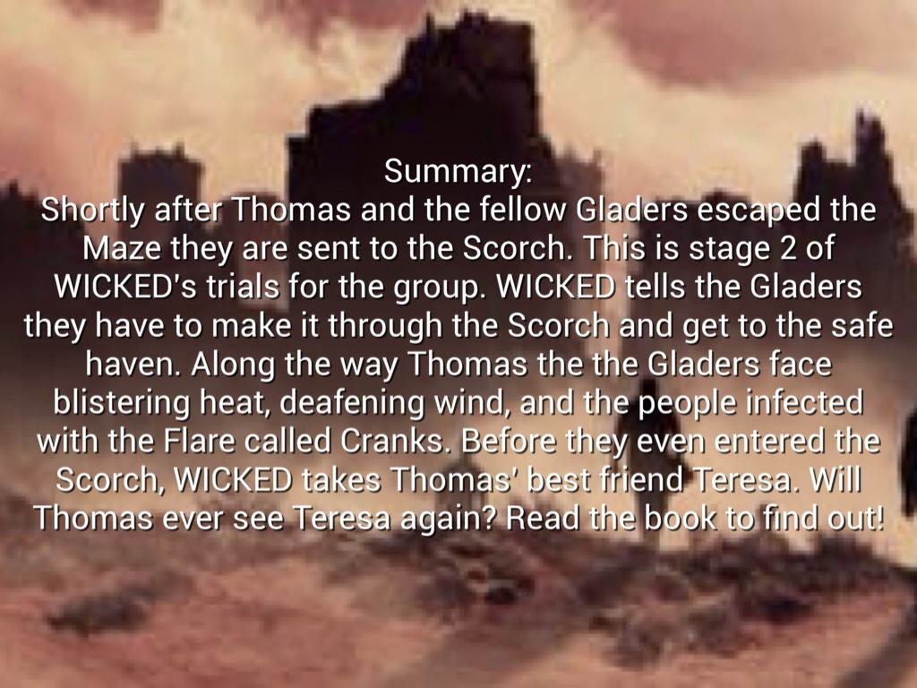Quotes about Scorch Trials (25 quotes)