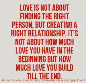 Finding the right love