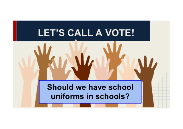 should schools require student uniforms essays Therefore, school should require their students to wear a school uniform wearing uniform is an assistance for the education system because it is not only the representative of a school but also help the staff supervises the students.