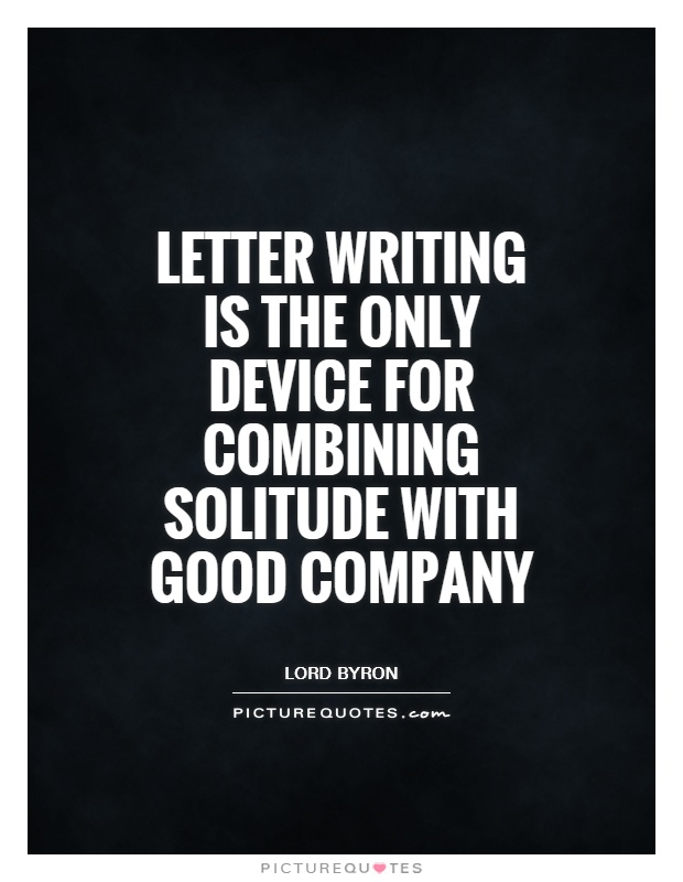 picturequotescom Quotes about Letter Writing 76