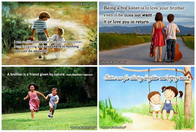Quotes about Being brother and sister 57 quotes
