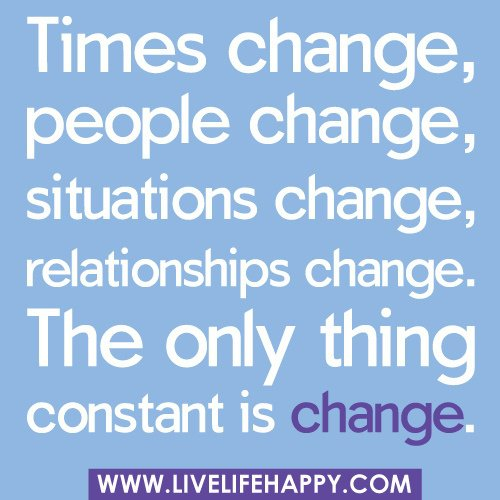 Quotes about Change in relationships (70 quotes)