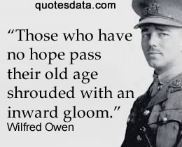 Quotes About Wilfred Owens Poetry 21 Quotes