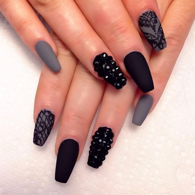 Black Nail Polish Designs Tumblr Crossfithpu