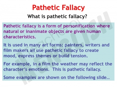 Quotes about Pathetic fallacy (23 quotes)