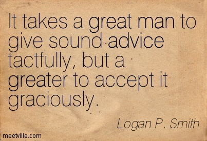 Quotes About Accepting Advice 30 Quotes