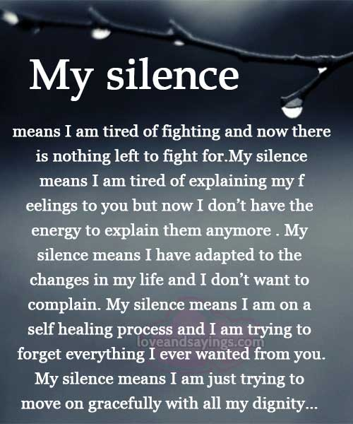 what silence means