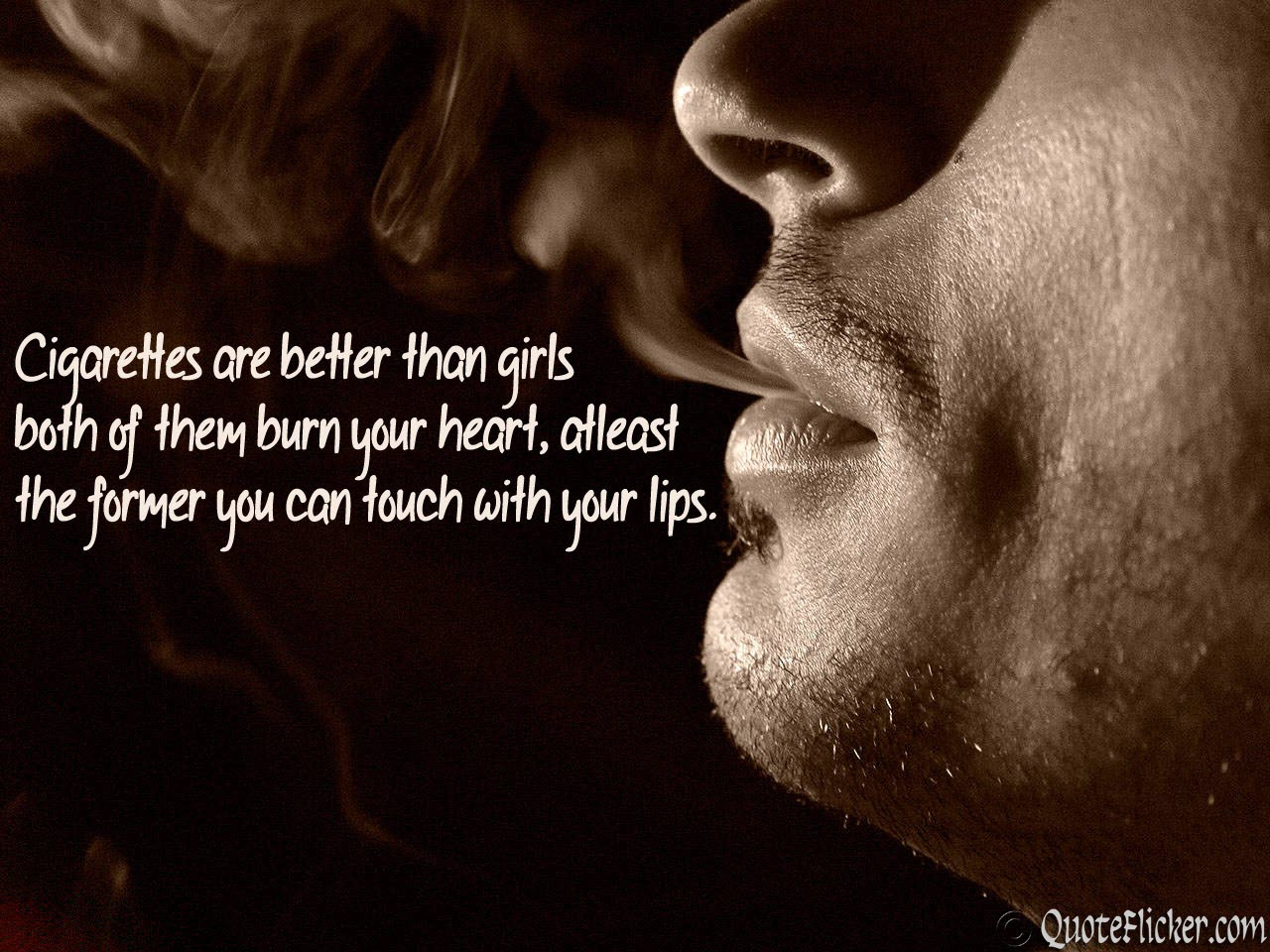 Quotes about Cigarette and love (3 quotes)