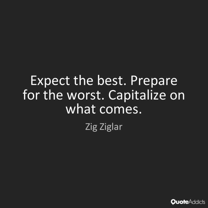 Quotes About Prepare For The Worst 63 Quotes