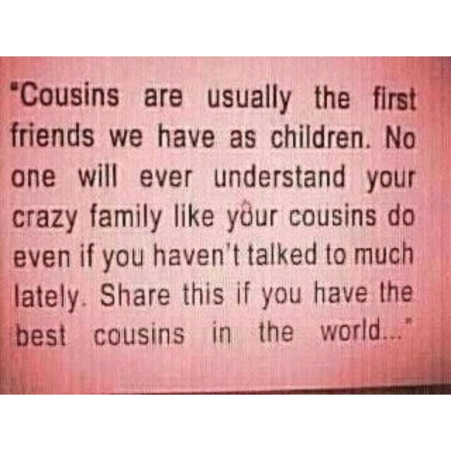 Quotes About Cousins Love Custom Quotes About Loving My Cousin 18 Quotes