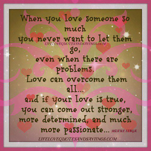 Be in love with someone