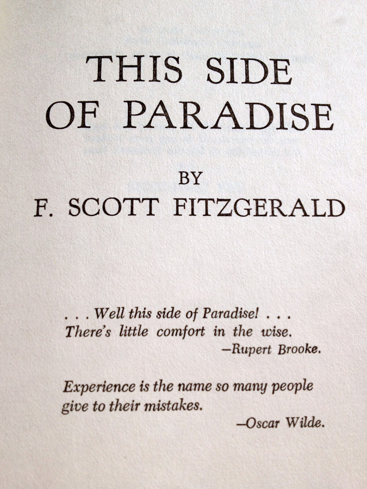 Love Quotes F Scott Fitzgerald Quotes About This Side Of Paradise 16 Quotes