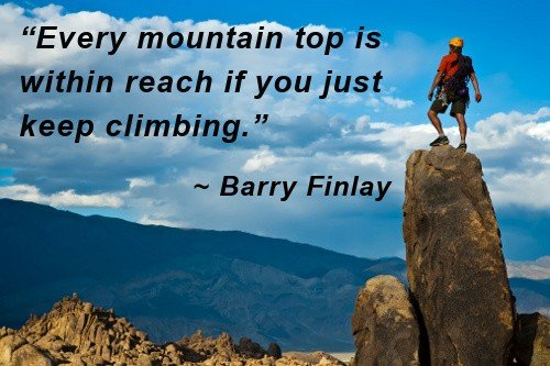 a review of the story barry climbing
