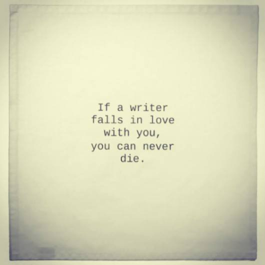perks of dating a writer
