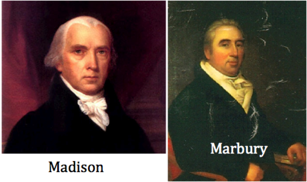 marbury v madison 2 Marbury v madison marbury v madison, 5 us (1 cranch) 137, 2 l ed 60 (1803), established the power of judicial review in the us supreme courtthis power, which was later extended to all federal courts, authorizes the federal judiciary to review laws enacted by congress and the president and to invalidate those that violate the constitution.