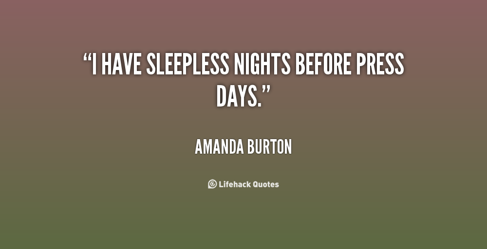Quotes About Sleepless Nights. Sleepless Nights Without You ...