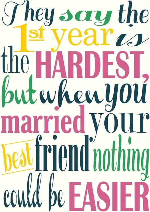 Quotes About First Year Marriage 52 Quotes