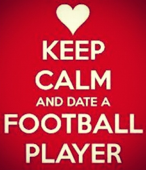 I dating a football player