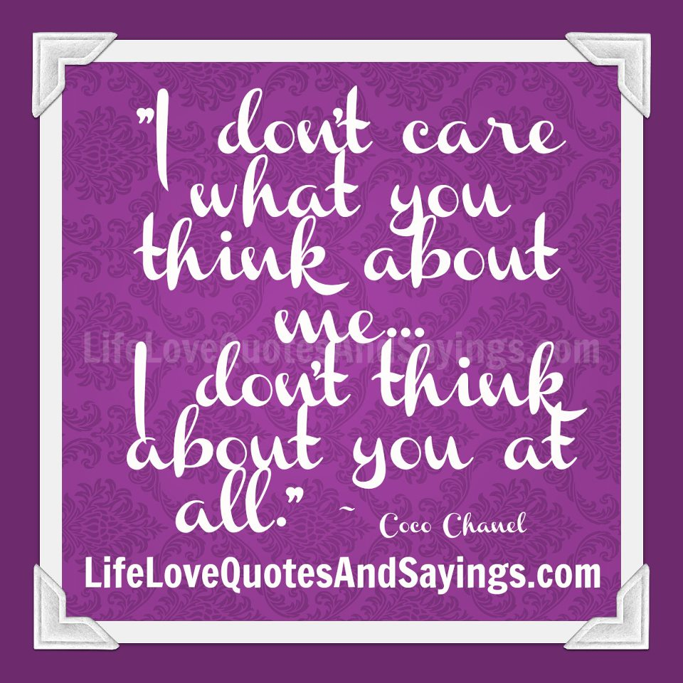 Quotes About I Thought You Cared 11 Quotes