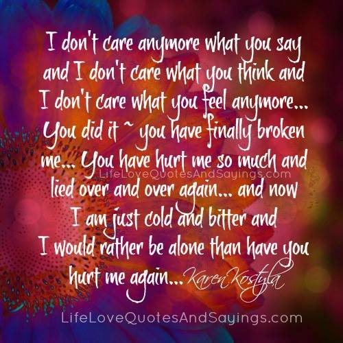 Quotes About Doesnt Care 329 Quotes
