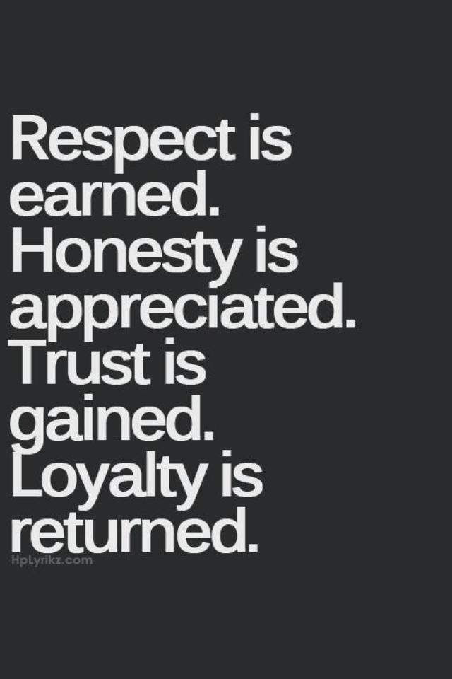 Quotes about Loyalty respect and honesty (17 quotes)